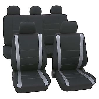 Grey & Black Car Seat Covers -Holden Astra AH Station Wagon 2004-2009