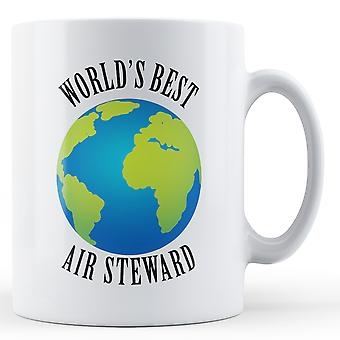 Melhor ar Steward do mundo - caneca impressa