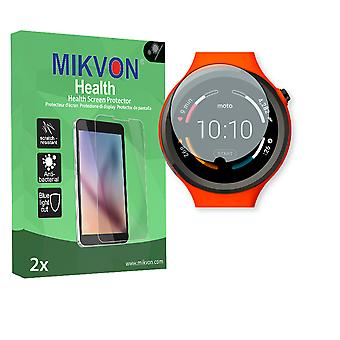 Motorola Moto 360 Sport Smartwatch Screen Protector - Mikvon Health (Retail Package with accessories) (intentionally smaller than the display due to its curved surface)