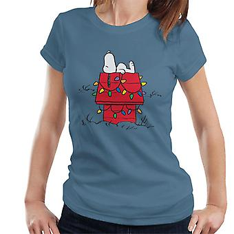 Peanuts Christmas Light House Snoopy Women's T-Shirt