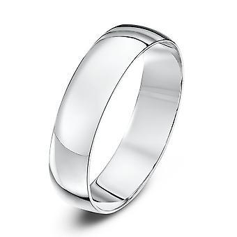 Star Wedding Rings 18ct White Gold Light D 5mm Wedding Ring