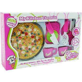 Pizza klittenbandsnijset met accessoires
