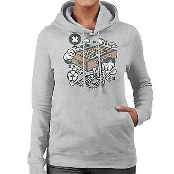 Fußball Tabelle Damen Sweatshirt mit Kapuze