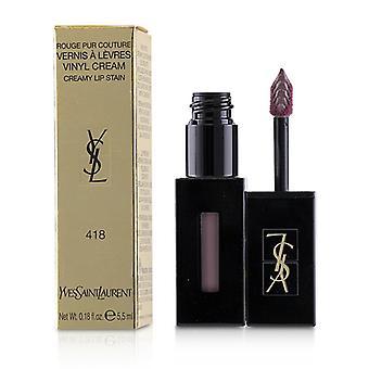 Yves Saint Laurent Rouge Pur Couture Vernis A Levres Vinyl Sahne cremig Fleck - # 418 lila Ton - 5.5ml/0.18oz