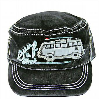 Official VW Camper Van Military Style Baseball Cap - Black