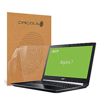 Celicious Vivid Invisible Glossy HD Screen Protector Film Compatible with Acer Aspire 7 A717-72G [Pack of 2]