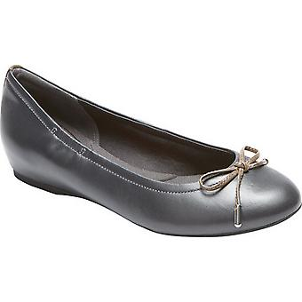 Rockport Womens/Ladies Tied Leather Ballet Shoes