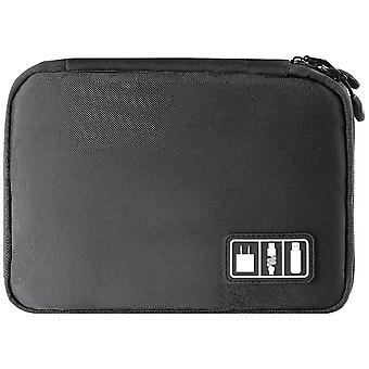 Bag for storage of cables and Electronic accessories-Black