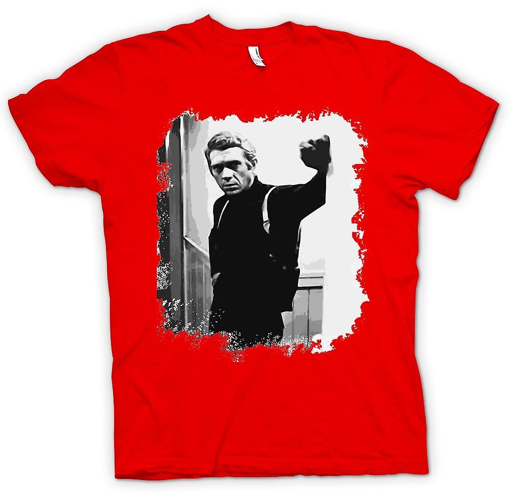 Heren T-shirt - Steve Mcqueen - Bullit - Retro