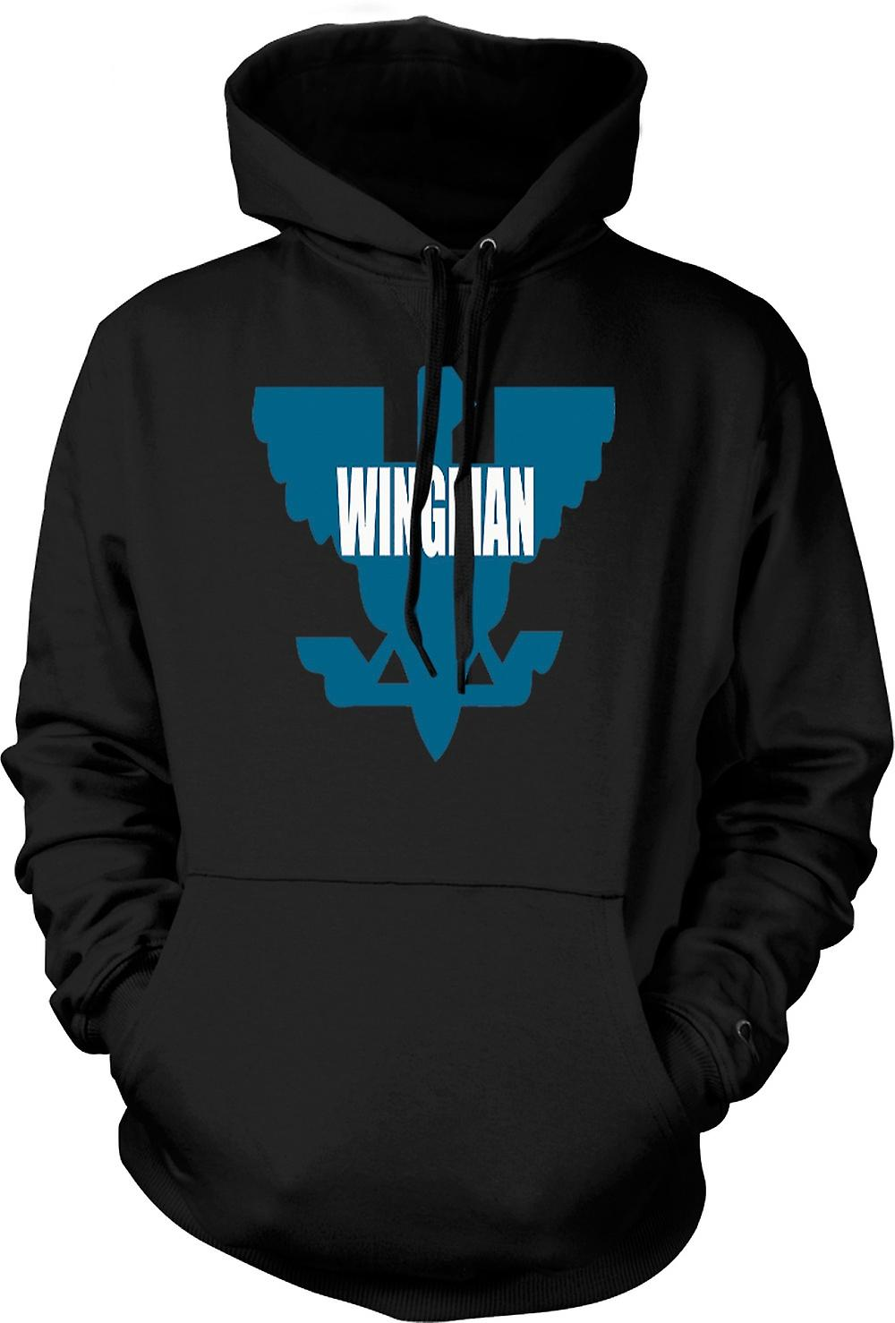 Mens Hoodie - Cool - like the other side of the pillow - Quote