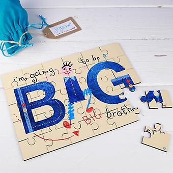 I'm Going to be a Big Brother Secret Message Jigsaw