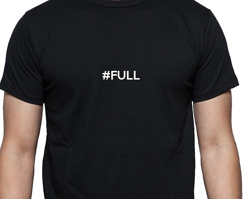 #Full Hashag Full Black Hand Printed T shirt