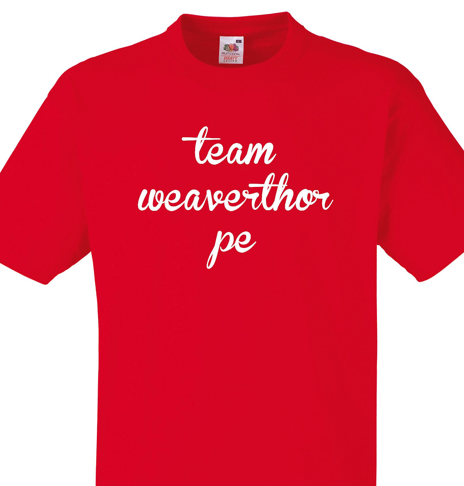 Team Weaverthorpe Red T shirt