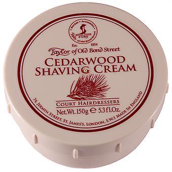 Taylor Of Old Bond Street Shaving Cream Pot 150g - Cedarwood
