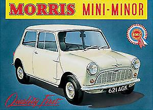 Morris Mini Minor Steel Sign  (fd)