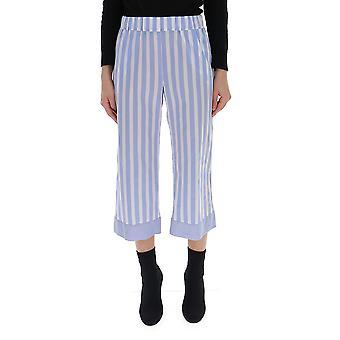 Semi-couture Light Blue/white Cotton Pants