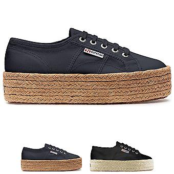 Womens Superga 2790 Rope Canvas Summer Fashion Flatform Wedge Trainers