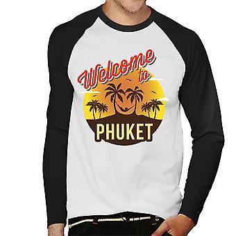 Tervetuloa Phuket retro miesten baseball pitkähihainen T-paita