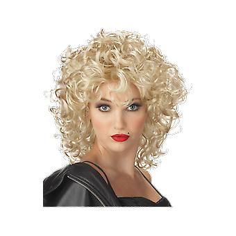 Womens Bad Girl Curly Blonde Wig 50s 70s Country Fancy Dress Costume Accessory