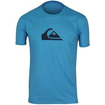 Quiksilver Mens Mountain Wave T-Shirt-Heather Aqua/Navy