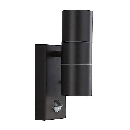 Searchlight 7008-2BK Outdoor Security Wall Light With PIR Motion Sensor IP44