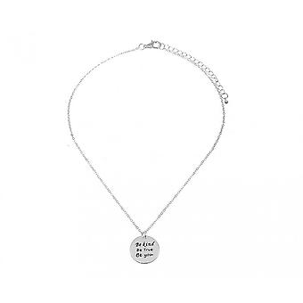 Intrigue Womens/Ladies Be Kind Be True Be You Engraved Pendant