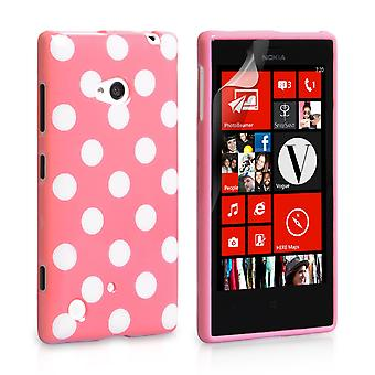 YouSave Accessories Nokia Lumia 720 Polka Dot Case Baby Pink