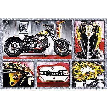 Poster - Studio B - 24x36 Rock'n Roll Bike Wall Art CJ1589