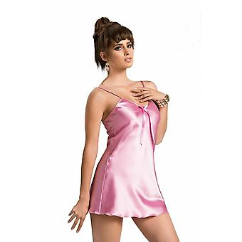 IRALL Lingerie 'Aria' Shiny Satin Slip with Adjustable Straps & Bow