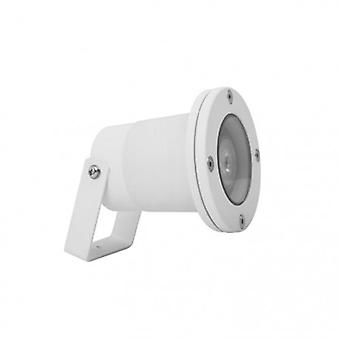 1 Light Outdoor Spotlight White Ip65