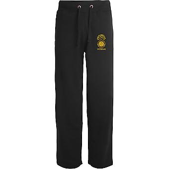 Royal Northumberland Fusiliers Veteran - Licensed British Army Embroidered Open Hem Sweatpants / Jogging Bottoms