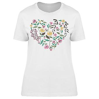Roses And Herbs Form Of Heart Tee Women's -Image by Shutterstock