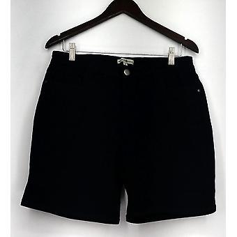 Eine Welt Zip & Button Stretch fünf Pocket Shorts blau Womens A432385