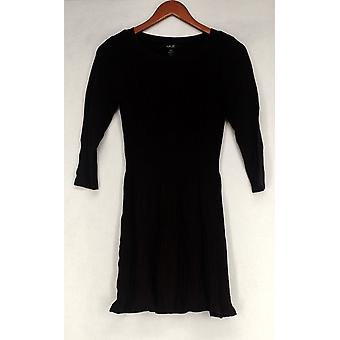 Style & CO. Tunic Petite Ribbed Pattern Dark Purple Womens