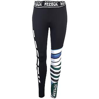 Reebok Womens MYT Engineered Tights Trousers Bottoms Pants Ladies