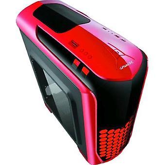 Cortek atx case shield red, 3 fan 12cm