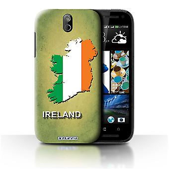 STUFF4 Case/Cover voor HTC Desire 608t/Ierland/Ierse/vlag Naties