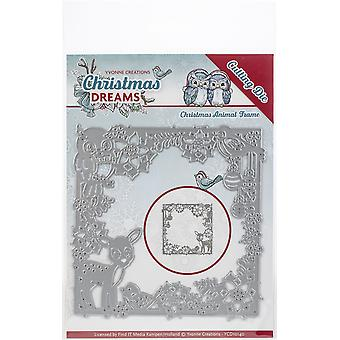 Find It Trading Yvonne Creations Die-Animal Frame, Christmas Dreams