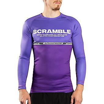 Scramble Ranked Long Sleeve MMA Rashguard - Purple