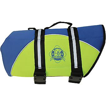 Paws Aboard Neoprene Doggy Life Jacket Extra Large-Blue & Yellow NEOXL-B1600
