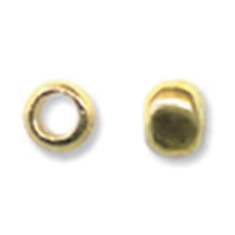 Crimp Beads Size #1 1.5 Grams Pkg Gold Plated Jfc1 G1.5G
