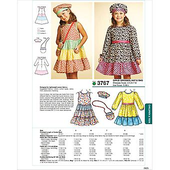 Dresses, Hat & Bag  4  5  6  7  8 Hat Size S  M  L Pattern K3767