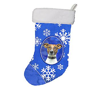 Winter Snowflakes Holiday Jack Russell Terrier Christmas Stocking