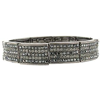 Gunmetal & Hematite Swarovski Crystal Classic Cuff Bracelet