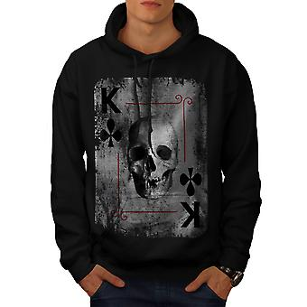 Poker Card Casino Skull Men Black Hoodie | Wellcoda