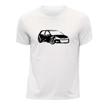 STUFF4 Boy's Round Neck T-Shirt/Stencil Car Art / VW Golf GTI Mk6/Black