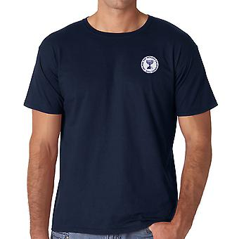 Mossad Seal - Isreali Intelligence Spy Embroidered Logo - Ringspun Cotton T Shirt