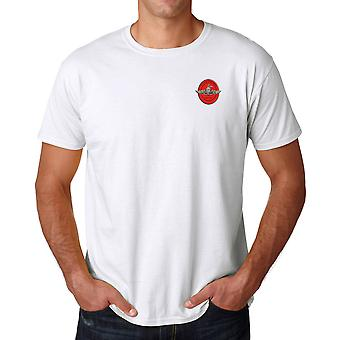 USMC Marine Recon Stickerei Logo - Ringspun Baumwolle T Shirt
