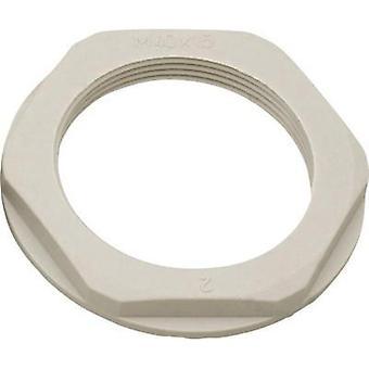Locknut with flange PG21 Polyamide Light grey (RAL 7035) Helukabel KMK-PA 90715 1 pc(s)