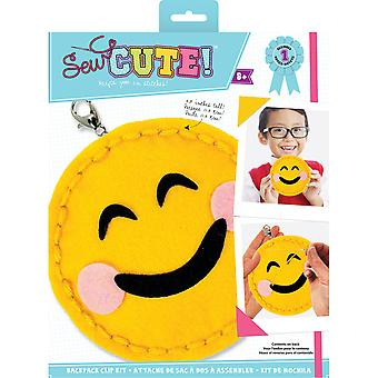 Sew Cute! Mini Felt Kit-Emoji Blushing Smile SEWMINI-73609
